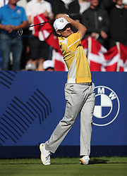Team Europe's Justin Rose during preview day four of the Ryder Cup at Le Golf National, Saint-Quentin-en-Yvelines, Paris. PRESS ASSOCIATION Photo. Picture date: Thursday September 27, 2018. See PA story GOLF Ryder. Photo credit should read: David Davies/PA Wire. RESTRICTIONS: Editorial use only. No commercial use.