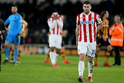 Stoke City's Sam Vokes after the match