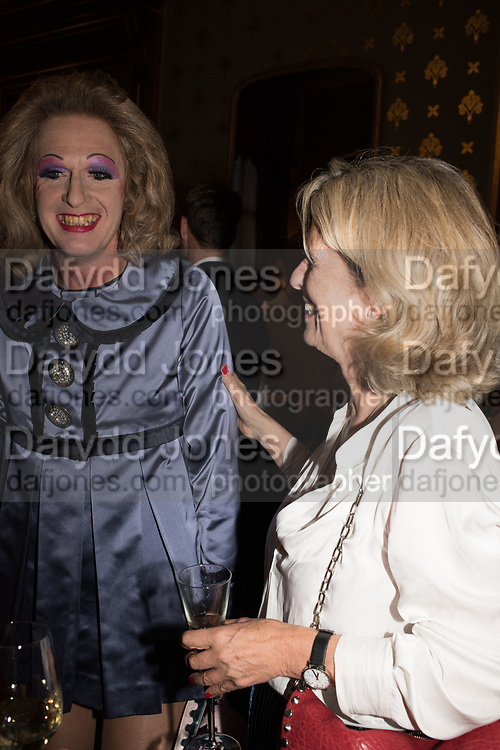 PENNY JOHNSON, TenTen. The Government GRAYSON PERRY; PENNY JOHNSON, Art Collection/Outset Annual Award. Champagne reception to announce the inaugural artist Hurvin Anderson and unveil his 2018 print. Locarno Suite, Foreign and Commonwealth Office. SW1. 2 October 2018