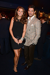 OLIVIA COLE and DAVID GANDY at the launch of TAG Heuer's new Aquaracer in the presence of long term friend of the brand Bo Derek held at Tramp, Jermyn Street, London on 8th October 2013.