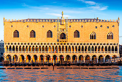 General views of Venice the Doge's Palace at sunrise. From a series of travel photos in Italy. Photo date: Monday, February 11, 2019. Photo credit should read: Richard Gray/EMPICS Entertainment