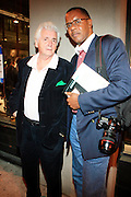 Famed Photographers Jamel Shabazz and Henry Benson, at The New York Photo Festival (NYPH) in the Dumbo section of, Brooklyn on May 15, 2008 ..Photography, one of the most important visual media of our lives, has been surprisingly uncelebrated, particularly in the United States. New York City, home to the most influential commercial and fine art photography community, has lacked?until now?a large-scale event dedicated to photography.. .powerHouse Books and VII Photo Agency have joined forces to launch the new, annual New York Photo Festival, the first international-level festival of photography to be based in the U.S.