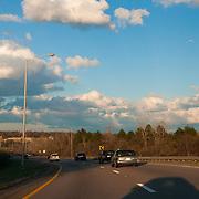 Scenic route 3 from Boston to Cape Cod, MA