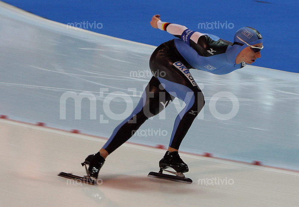 Erfurt , 170207 , Eisschnelllauf Weltcup , 10000m Maenner  Robert LEHMANN (GER)