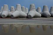 Tetrapods on a beach near Iwate, Fukushima, Japan Monday April 29th 2013