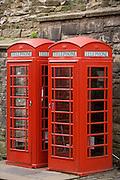 Phone booths, Old Town, Edinburgh, Scotland, UK