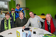Forest Green Rovers Charlie Cooper(15) with his sponsors during the EFL Sky Bet League 2 match between Forest Green Rovers and Mansfield Town at the New Lawn, Forest Green, United Kingdom on 24 March 2018. Picture by Shane Healey.