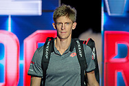 Kevin Anderson of South Africa enters the arena during the Nitto ATP World Tour Finals at the O2 Arena, London, United Kingdom on 13 November 2018.Photo by Martin Cole