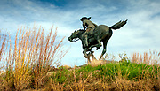 Kansas / Marysville / Pony Express Rider Statue / First Home Station Of The Pony Express