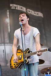 Ryan Jarman of The Cribs, play on the main stage. Rockness, Sunday 8th June 2008..Pic © Michael Schofield. All Rights Reserved.