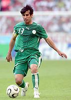 Fotball<br /> VM 2006<br /> Foto: Dppi/Digitalsport<br /> NORWAY ONLY<br /> <br /> FOOTBALL - WORLD CUP 2006 - STAGE 1 - GROUP H - TUNISIA v SAUDI ARABIA - 14/06/2006 - HUSSEIN SULIMANI (SAU)
