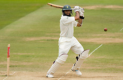 South Africa's Hashim Amla hits out during The First npower Test match at Lord's Cricket Ground, London.