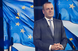 May 26, 2019 - Brussels, Brussels, Belgium - The candidate Manfred Weber During the evening of the European elections 2019 in the European Parliament. (Credit Image: © Nicolas Landemard/Le Pictorium Agency via ZUMA Press)
