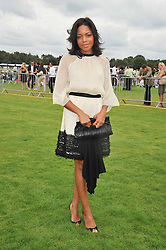 Actress NAOMIE HARRIS at the 25th annual Cartier International Polo held at Guards Polo Club, Great Windsor Park, Berkshire on 26th July 2009.