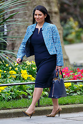 © Licensed to London News Pictures. 19/04/2016. London, UK. Minister of State for Employment PRITI PATEL attending a cabinet meeting in Downing Street on Tuesday, 19 April 2016. Photo credit: Tolga Akmen/LNP