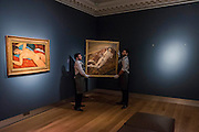 AMEDEO MODIGLIANI (1884-1920)<br /> Nu couché<br /> Painted in 1917-1918<br /> Estimate on Request (in the region of $100 million) and LUCIAN FREUD (1922-2011)<br /> Naked Portrait on a Red Sofa<br /> Painted in 1989-1991<br /> Estimate: $20,000,000-30,000,000 - Christie's showcases  the London Post-War and Contemporary Art Evening Sale in October, alongside an exceptional selection of works from the  New York sales in November of Impressionist, Modern, Post-War And  Contemporary Art. The works will be on view to the public from Saturday 10 October to Saturday 17 October at Christie's King Street. The highlight is  Amedeo Modigliani's, 'Nu couché (Reclining  Nude)', painted in 1917-18, which has an estimate in the region of $100 million.