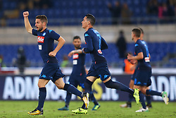 September 20, 2017 - Rome, Lazio, Italy - Dries Mertens of Napoli celebrating during the Serie A match between SS Lazio and SSC Napoli at Stadio Olimpico on September 20, 2017 in Rome, Italy. (Credit Image: © Matteo Ciambelli/NurPhoto via ZUMA Press)