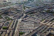 Nederland, Zuid-Holland, Den Haag, 23-05-2011; Nieuwbouw in de woonwijk Schilderswijk, Vaillantlaan. Linksboven de markt aan de De Heemstraat. View on working class area Schilderswijk of the Hague..luchtfoto (toeslag), aerial photo (additional fee required).copyright foto/photo Siebe Swart