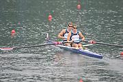 Shunyi, CHINA.  Men's Pairs, semi final A/B,  USA M2-, (b) WINKLEVOSS Tyler and WINKLEVOSS Cameron, at the 2008 Olympic Regatta, Shunyi Rowing Course. Wed 14.08.2008 [Mandatory Credit: Peter SPURRIER, Intersport Images]