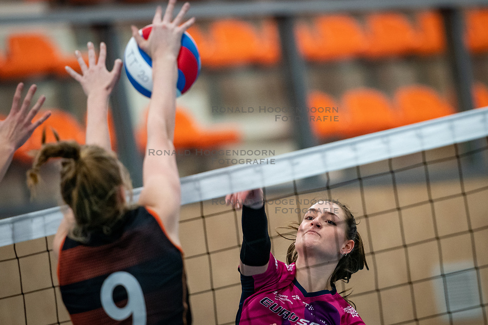 Kirsten Spruijt of Eurosped in action during the league match Talentteam Papendal vs.  Eurosped on January 23, 2021 in Ede.