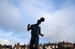 The Phil Sproson statue before Port Vale's and Coventry City's match at Vale Park