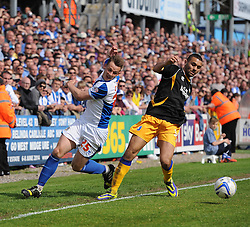 Bristol Rovers' Seanan Clucas battles for the ball  - Photo mandatory by-line: Joe Meredith/JMP - Mobile: 07966 386802 03/05/2014 - SPORT - FOOTBALL - Bristol - Memorial Stadium - Bristol Rovers v Mansfield - Sky Bet League Two