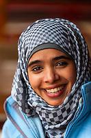 A Bedouin woman, Petra archaeological site (a UNESCO World Heritage site), Jordan.