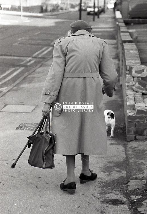 Elderly woman Nottingham UK 1989