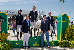 Mathy Kenny Darragh, IRL, Blum SImone, GER, Allen Bertram, IRL<br /> Grand Prix Rolex powered by Audi <br /> CSI5* Knokke 2019<br /> © Dirk Caremans<br /> Kenny Darragh, IRL, Blum SImone, GER, Allen Bertram, IRL