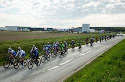 Riders in Dobrovnik during 5th Stage from Dobrovnik to Novo mesto, 225 km at Day 5 of DOS 2021 Charity event - Dobrodelno okrog Slovenije, on May 1, 2021, in Slovenia. Photo by Vid Ponikvar / Sportida