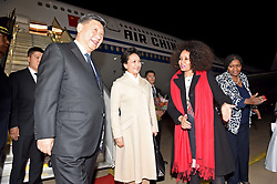 Minister of International Relations and Cooperation Ms Lindiwe Sisulu receiving the President of the People's Republic of China, His Excellency Mr Xi Jinping and spouse at Waterkloof Air Force Base.<br /> <br /> 23 July 2018<br /> <br /> Pretoria, South Africa.<br /> <br /> <br /> <br /> Picture byline:  DIRCO News Service/Jacoline Schoonees<br /> <br /> <br /> <br /> <br /> <br /> <br /> <br /> President Ramaphosa to receive President Xi Jinping of the People's Republic of China on a State Visit to South Africa<br /> <br /> His Excellency President Cyril Ramaphosa will on Tuesday, 24 July 2018, host the President of the People's Republic of China, His Excellency Mr Xi Jinping, on a State Visit to South Africa.<br /> The State Visit takes place within the context of strengthening strategic and historic political, economic, social and international cooperation partnership between South Africa and China.<br /> <br /> The two Heads of State will use the State Visit to engage in bilateral talks and evaluate the progress achieved by the two countries on the Strategic Programme with specific reference to the six priority areas identified in 2015, which include amongst other matters: the Alignment of industries to accelerate South Africa's industrialization process; Enhancement of cooperation in Special Economic Zones (SEZs); Enhancement of marine cooperation; Infrastructure development; Human resources cooperation; as well as Financial cooperation.<br /> <br /> President Xi will meet President Ramaphosa ahead of South Africa's hosting of the 10th BRICS Summit in which Brazil, Russia, India, China and South Africa will participate.<br /> <br /> President Ramaphosa will also pay a state visit to China ahead of the Forum on China-Africa Cooperation (FOCAC) Summit, which President Ramaphosa will co-chair with President Xi, to be held in Beijing in the latter part of this year.<br /> <br /> South Africa's relations with China are at the level of a Comprehensive Strategic Partn