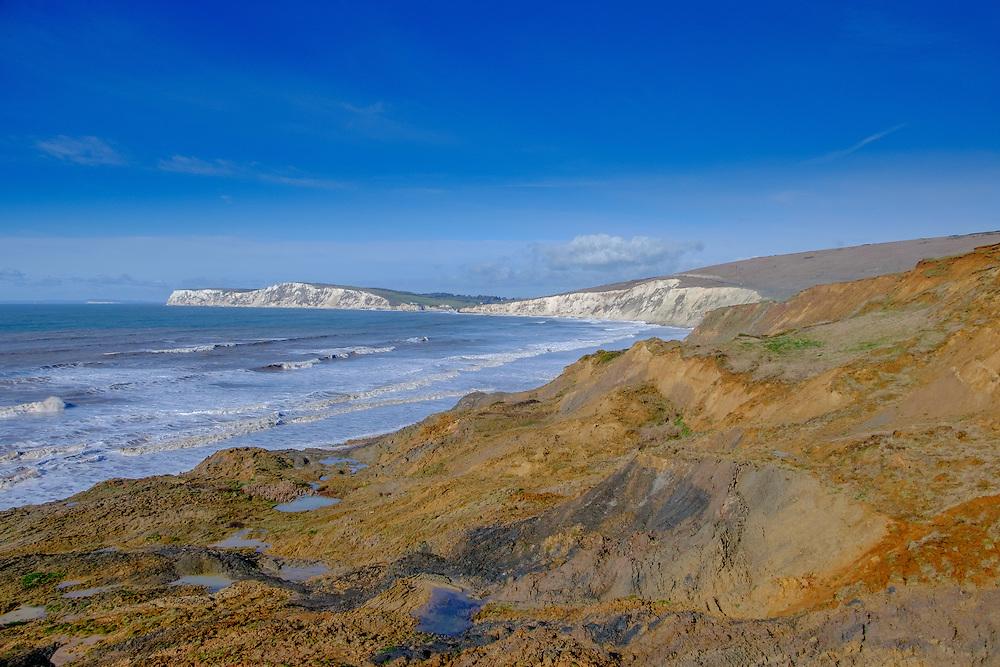 Coastal path at Compton Bay on the Isle of Wight