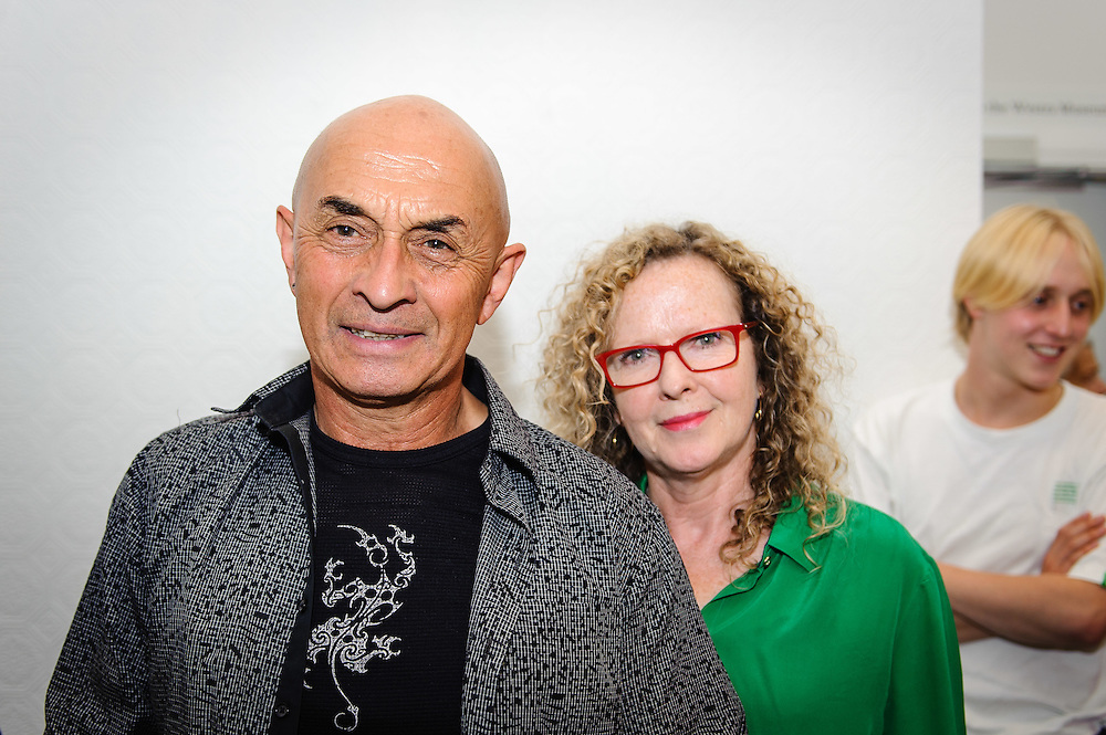 WELLINGTON, NEW ZEALAND - April 20: Ray Ahipene-Mercer and Pam Brabants at Suite Gallery opening of Ans Westra living museum April 20, 2016 in Wellington, New Zealand. (Photo by Elias Rodriguez)