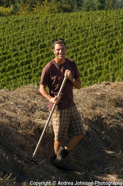 Paul de Lancellotti standing in his de Lancellotti vineyard, Yamhill-Carlton AVA, Willamette Valley, Oregon