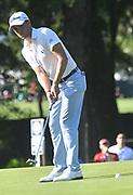 ST. LOUIS, MO - AUGUST 09: Justin Thomas putts on the #10 green during the first round of the PGA Championship on August 09, 2018, at Bellerive Country Club, St. Louis, MO.  (Photo by Keith Gillett/Icon Sportswire)