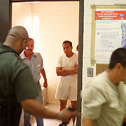 Undocumented immigrants caught during the previous night by the Border Patrol are processed for deportation in a detention facility in Yuma, Arizona. Please contact Todd Bigelow directly with your licensing requests.