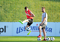 ARLAMOW, POLAND - MAY 30: Robert Lewandowski during a training session of the Polish national team at Arlamow Hotel during the second phase of preparation for the 2018 FIFA World Cup Russia on May 30, 2018 in Arlamow, Poland. MB Media