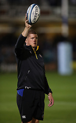 Bath Rugby General Manager Stuart Hooper during warm up ahead of the Gallagher Premiership match at the Recreation Ground, Bath. PRESS ASSOCIATION Photo. Picture date: Friday October 5, 2018. See PA story RUGBYU Bath. Photo credit should read: Nick Potts/PA Wire. RESTRICTIONS: Editorial use only. No commercial use.