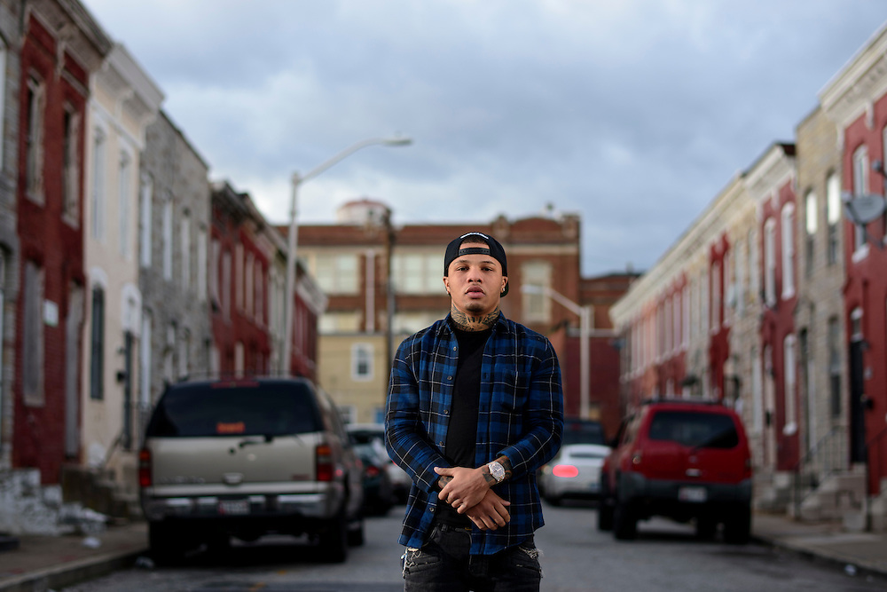 Baltimore, Maryland - January 26, 2017: Gervonta Davis in his old neighborhood in West Baltimore. The current IBF Junior Lightweight Champion grew up with an unstable home life. His father was in and out of jail and both of his parents used drugs. Gervonta was raised by grandparents and had stints in a group home. Boxing was the stable thing in his life. <br /> <br /> <br /> CREDIT: Matt Roth for The New York Times<br /> Assignment ID: 30201545A