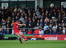 Bristol Rugby Fly-Half Nicky Robinson kicks  - Photo mandatory by-line: Joe Meredith/JMP - Mobile: 07966 386802 - 27/05/2015 - SPORT - Rugby - Worcester - Sixways Stadium - Worcester Warriors v Bristol Rugby - Greene King IPA Championship