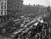 1954 - Traffic scenes on Westmoreland Street, Dublin - Special for C.I.E..