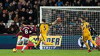 Football - 2018 / 2019 Premier League - West Ham United vs. Brighton & Hove Albion<br /> <br /> Felipe Anderson (West Ham United) prepares to strike at the London Stadium<br /> <br /> COLORSPORT/DANIEL BEARHAM