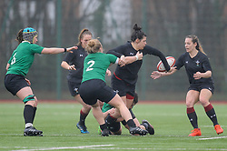 Wales women's Rebecca De Filippo and Wales women's Kerin Lake In action today<br /> <br /> Photographer Mike Jones/Replay Images<br /> <br /> International Friendly - Wales women v Ireland women - Sunday 21st January 2018 - CCB Centre for Sporting Excellence - Ystrad Mynach<br /> <br /> World Copyright © Replay Images . All rights reserved. info@replayimages.co.uk - http://replayimages.co.uk