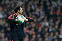 30.01.2013 SPAIN -  Copa del Rey 12/13 Matchday 1/4  match played between Real Madrid CF vs  F.C. Barcelona (1-1) at Santiago Bernabeu stadium. The picture show Diego Lopez (spanish goalkeeper of Real Madrid)