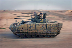 © licensed to London News Pictures. IRAQ . FILE PICTURE. The MCV-80 Warrior infantry fighting vehicle. Please see special instructions. Photo credit should read Andre Chittock/LNP.