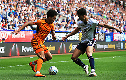 Helder Costa of Wolverhampton Wanderers takes on Antonee Robinson of Bolton Wanderers - Mandatory by-line: Matt McNulty/JMP - 21/04/2018 - FOOTBALL - Macron Stadium - Bolton, England - Bolton Wanderers v Wolverhampton Wanderers - Sky Bet Championship