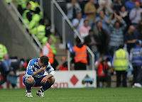 Photo: Lee Earle.<br /> Reading v West Ham United. The FA Barclays Premiership. 01/09/2007.Reading's Graeme Murty looks dejected after losing at home to West Ham.