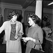 29/06/1963<br /> 06/29/1963<br /> 29 June 1963<br /> Mrs Eunice Shriver, sister of President John F. Kennedy, purchasing Irish hand knitted Aran seaters at Brown Thomas, Grafton Street, Dublin, minutes before she was due to leave Dublin with her Brother. She is accompanied by Mrs Dorothy Tubridy.