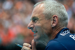 11-08-2019 NED: FIVB Tokyo Volleyball Qualification 2019 / Netherlands - USA, Rotterdam<br /> Final match pool B in hall Ahoy between Netherlands vs. United States (1-3) and Olympic ticket  for USA / Ass. coach Henk-Jan Held of Netherlands
