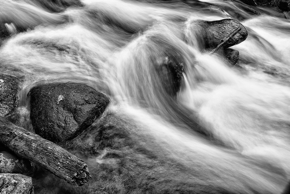 Limited edition photograph of a rapidly moving body of water.